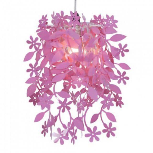 Kinderlamp bloemen roze - Kidzsupplies