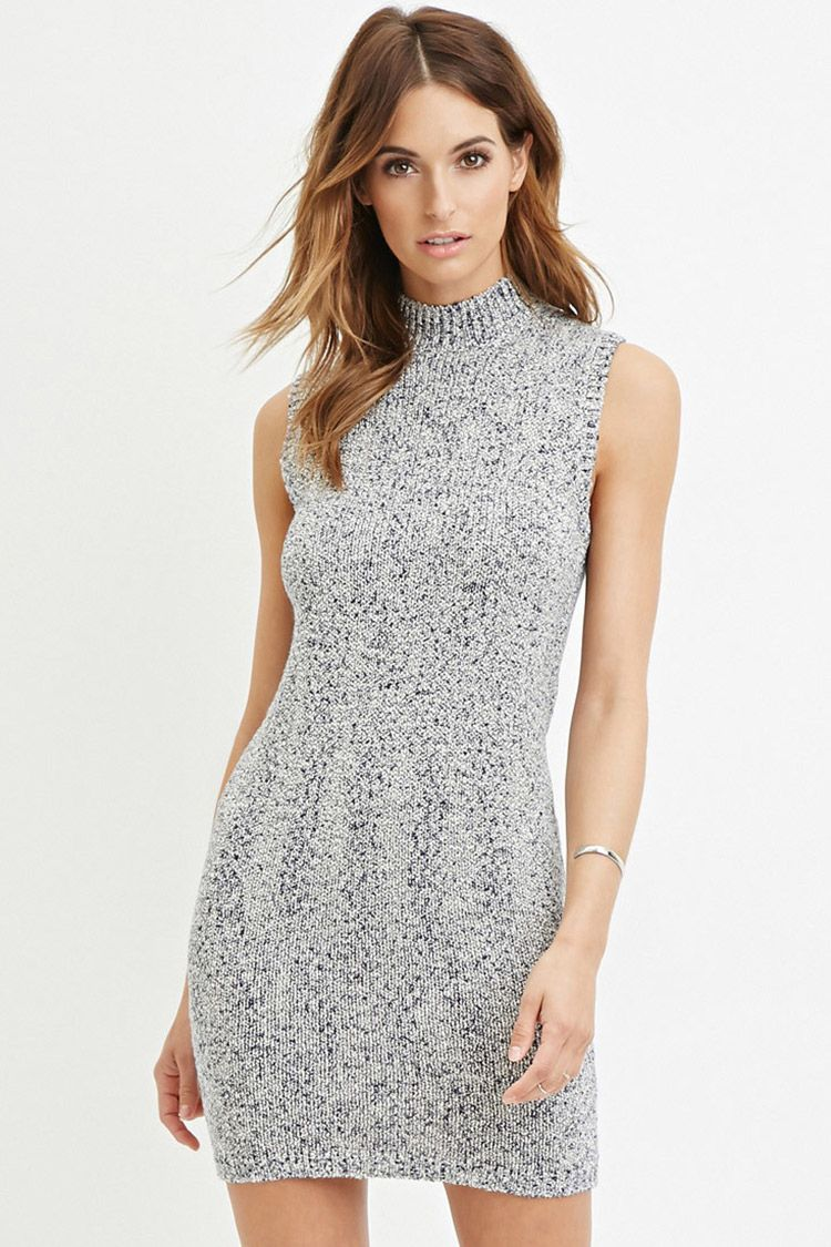 Contemporary marled knit dress forever saved by shoppingis