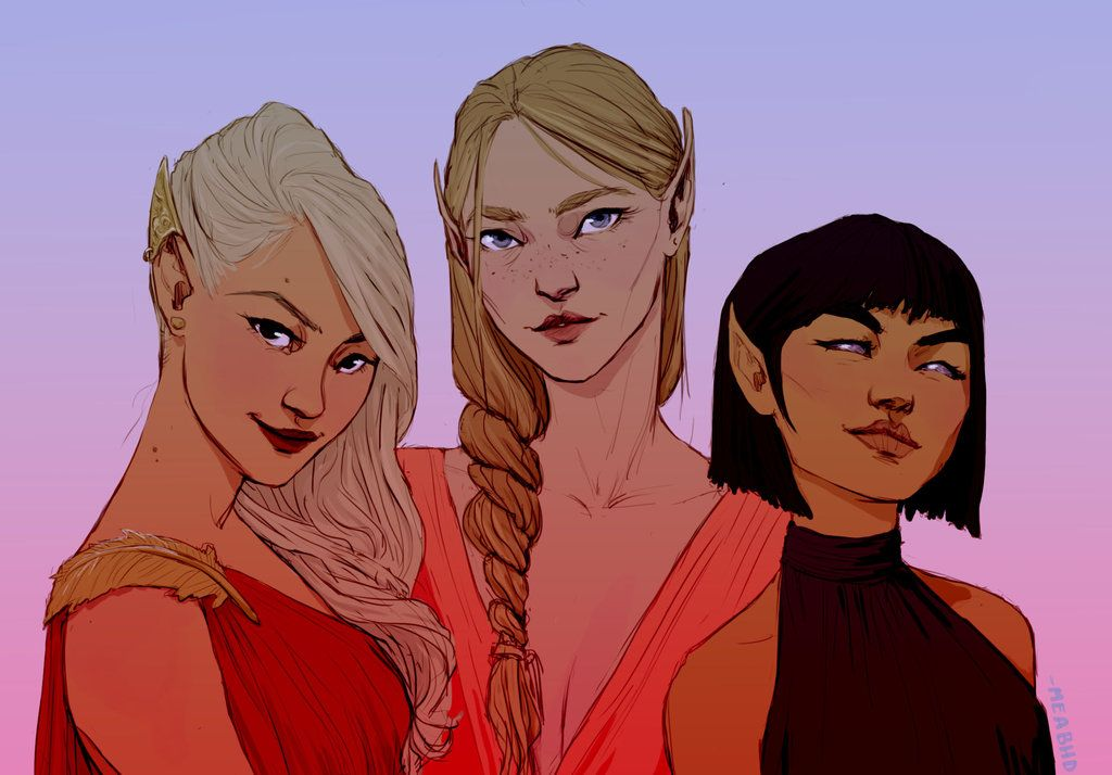 Women of the Night Court by meabhdeloughry on DeviantArt