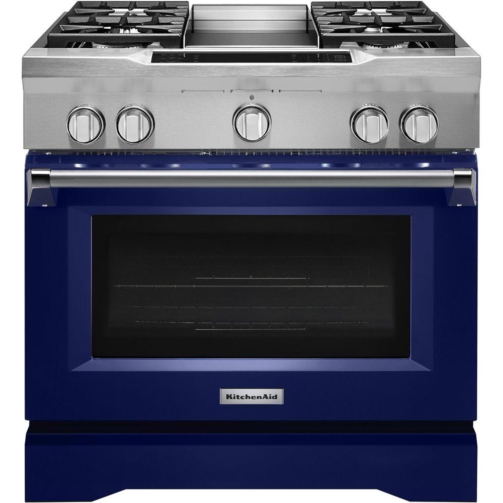 kitchenaid 5 1 cu ft self cleaning freestanding dual fuel rh pinterest com