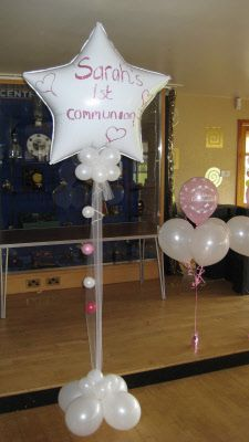 First Communion Balloon Decorations Chryston Bowling