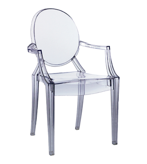 Philippe Starck Louis Ghost Armchair - Starck is a genius. LOVE him ...