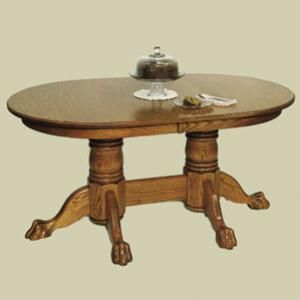 Redux Antique Dining Tables Heritage Colonial Oval Double Pedestal Claw Foot Extension Dining Table Antique Dining Tables Kitchen Table Oak Extension Table