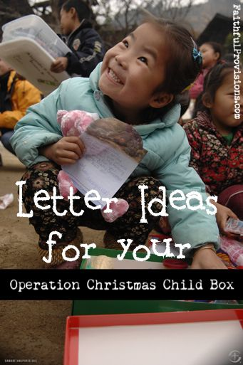 Easy tips for writing a personal letter to go in your Christmas Child Shoebox!...x