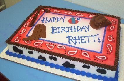 Admirable Cowboy Theme Sheet Cake Sugar Chic Cakes Cowboy Birthday Cakes Funny Birthday Cards Online Alyptdamsfinfo