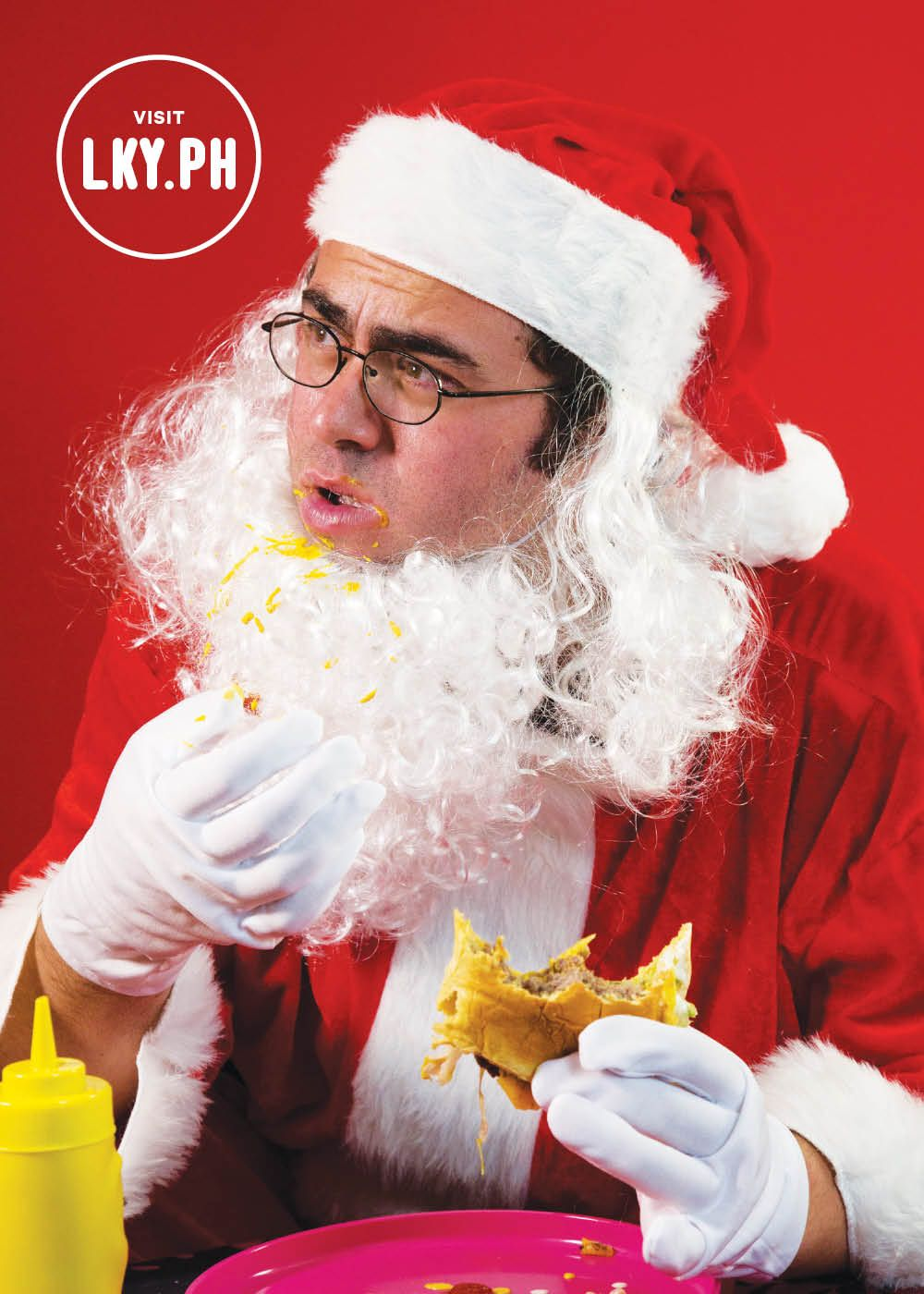 The Lucky Peach is celebrating the holiday with a HOLIDAY READER promo which means that now thru Cyber Monday, the first issue in your subscription will come bundled with their exclusive Holiday Reader, which comes chock full of recipes, stories, and this picture of @20x200 artist Jason Polan eating a hamburger.