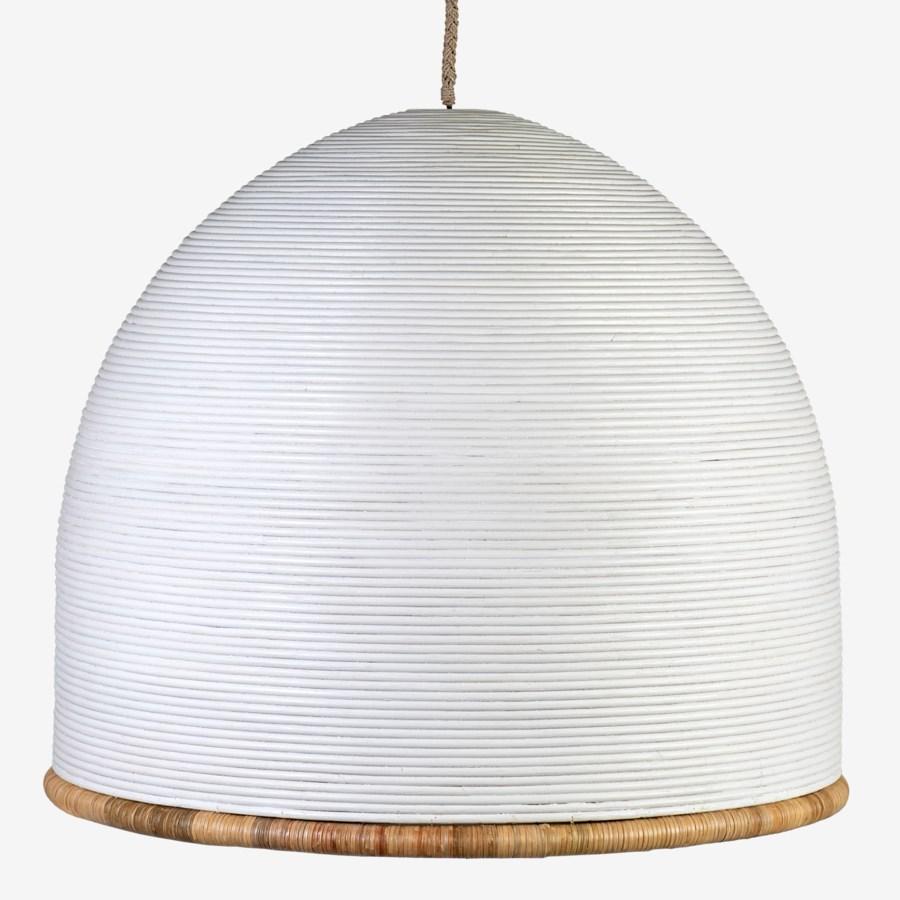 35 Kira Rattan Dome Chandelier Gray