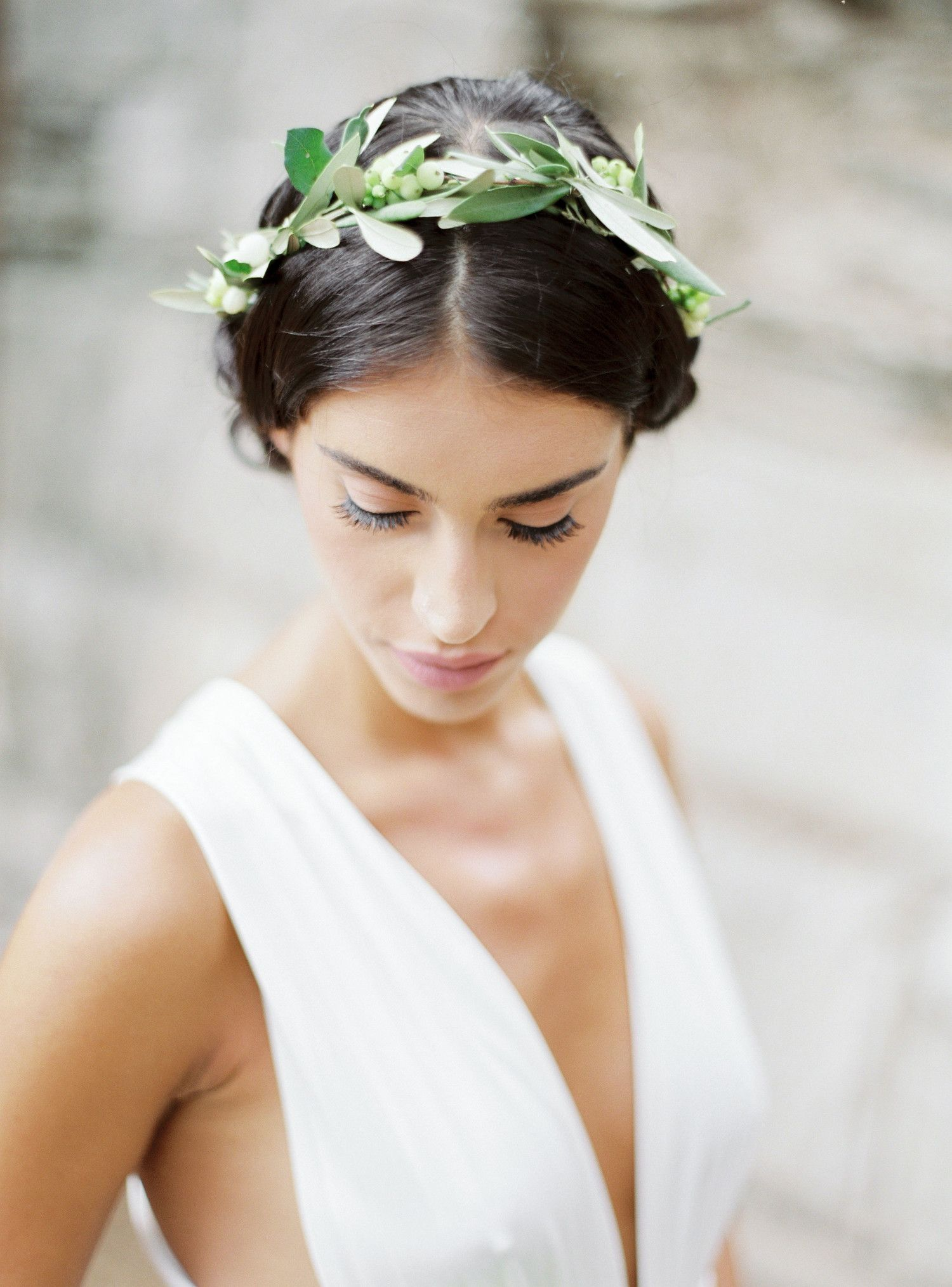 The New Flower Crown: Greenery Crowns | Greenery, Crown and Flower ...