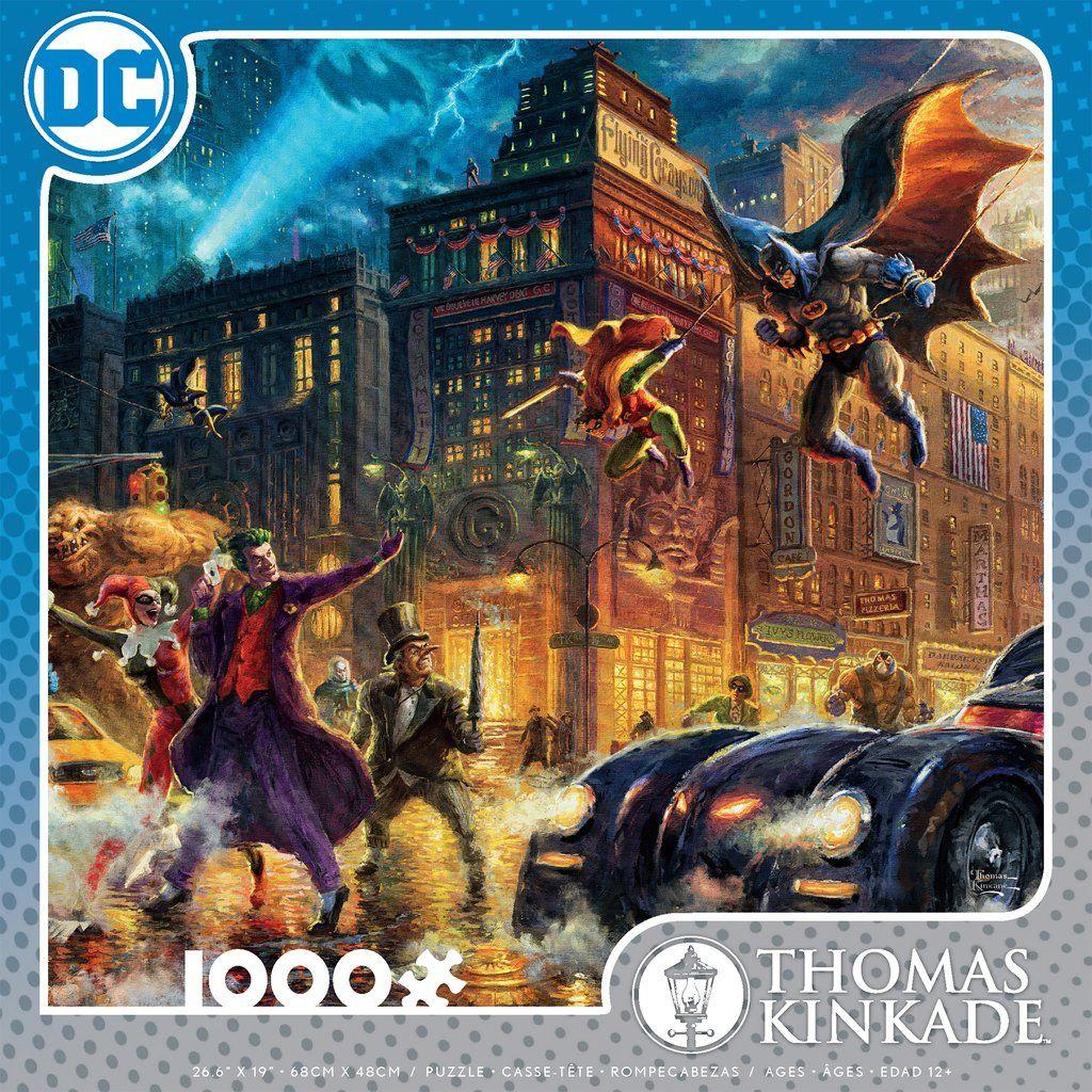 Superman Wonder Woman 10 x 14 Wrap Canvas Thomas Kinkade Studios Batman