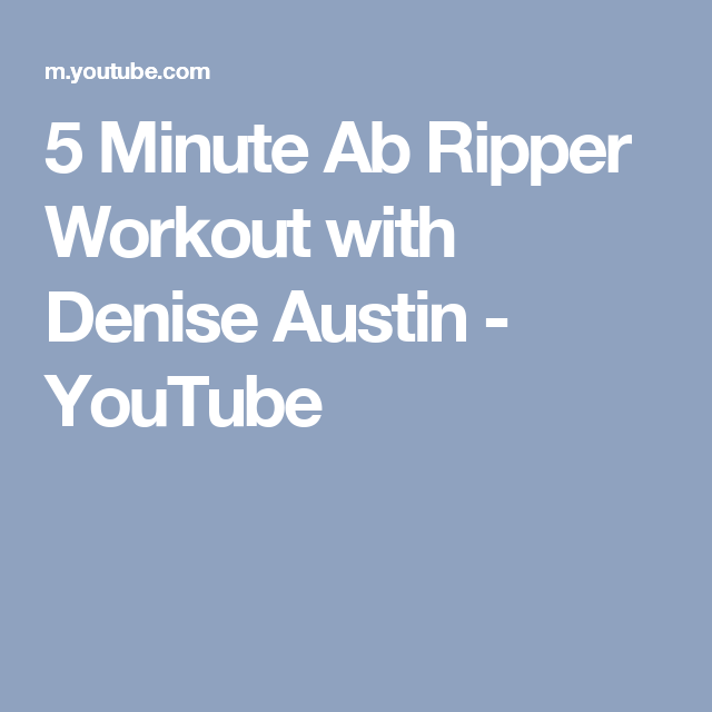 Pin on 5 minute abs