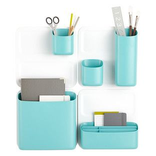 Elegant Super Cute Aqua Office Wall Organization! Perch Magnetic Wall Storage  Collection At The Container Store