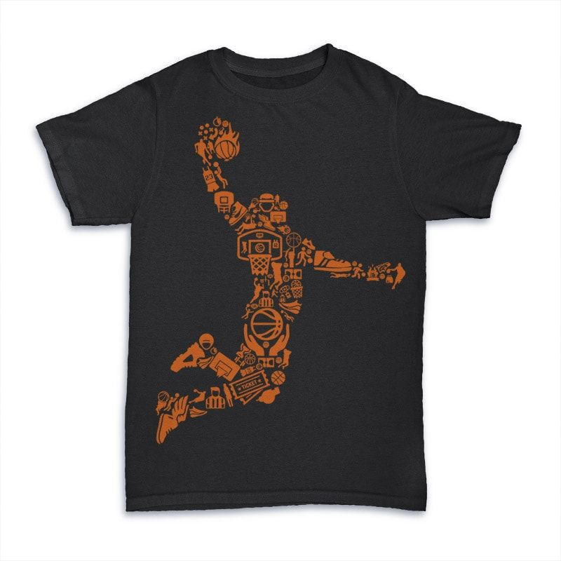 Basketball Player Vector T Shirt Design For Download Buy T Shirt Designs Basketball Shirt Designs Basketball T Shirt Designs Basketball Shirts