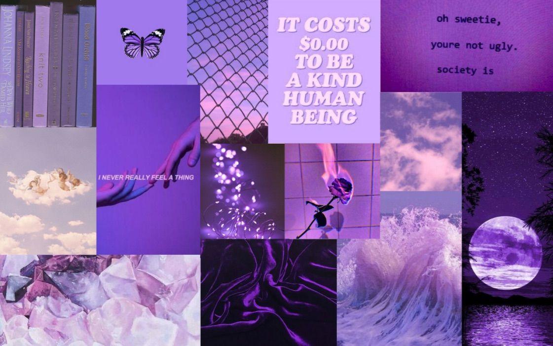 Wallpaper purple aesthetic in 2020 Aesthetic desktop