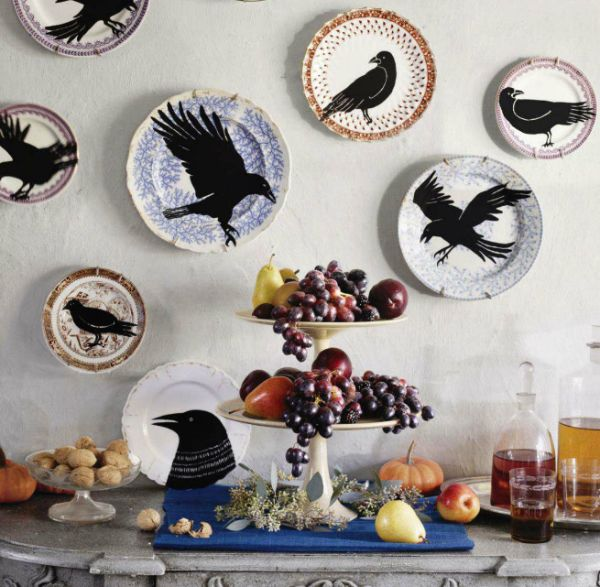 9 Eye-Catching Homemade Halloween Art Projects Paint stencils - where can i buy cheap halloween decorations