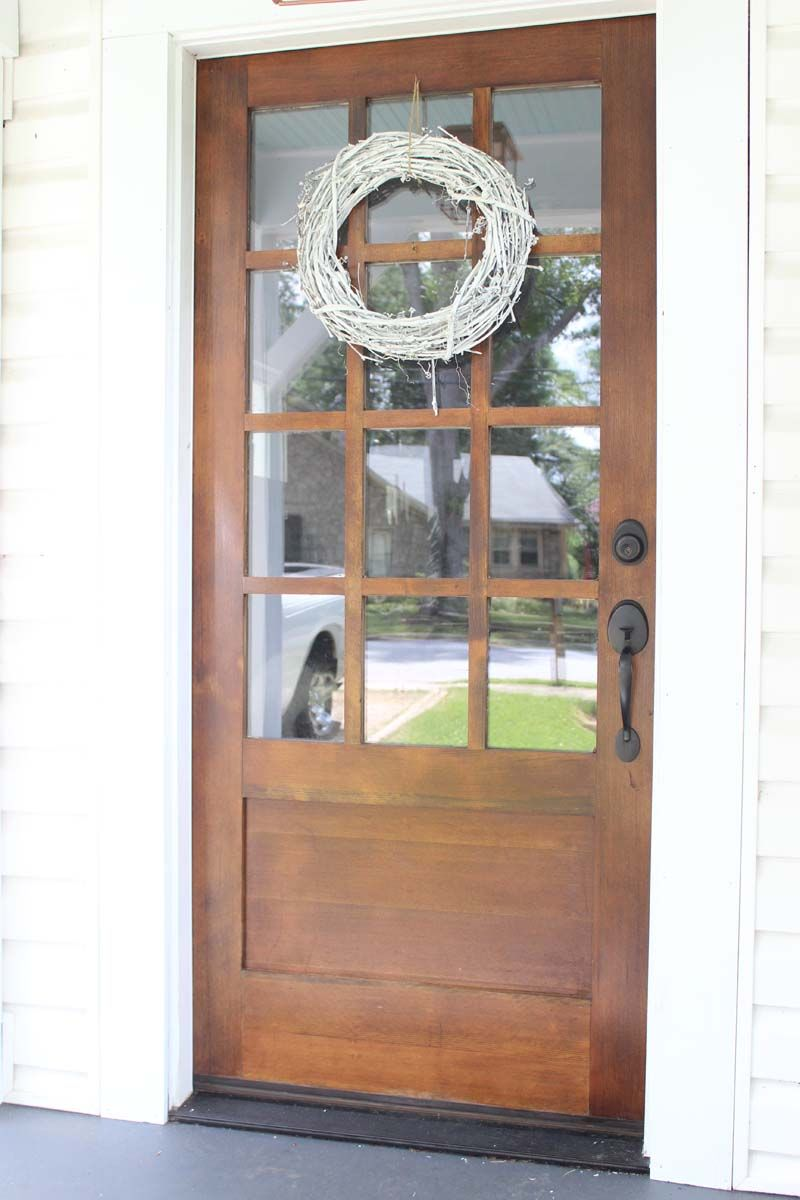 Front door with sidelites m6410 103010 ct 4irh the home depot - Our New Front Door Dark Stained Wood With White The White Buffalo Styling Co