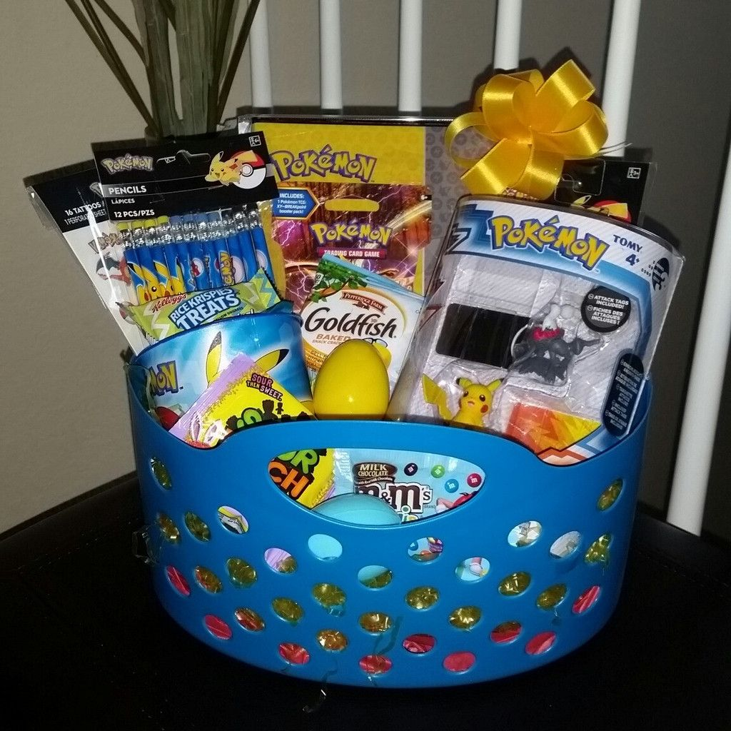 Pokemon pre filled easter basket gift pokemon nickelodeon boy give a treat this easter with a beautifully hand created gift basket for any pokemon fan each easter basket is unique with similar items as shown and negle Choice Image