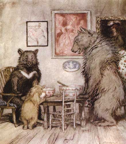 Arthur Rackham - one of the best illustrators. The Three Bears.