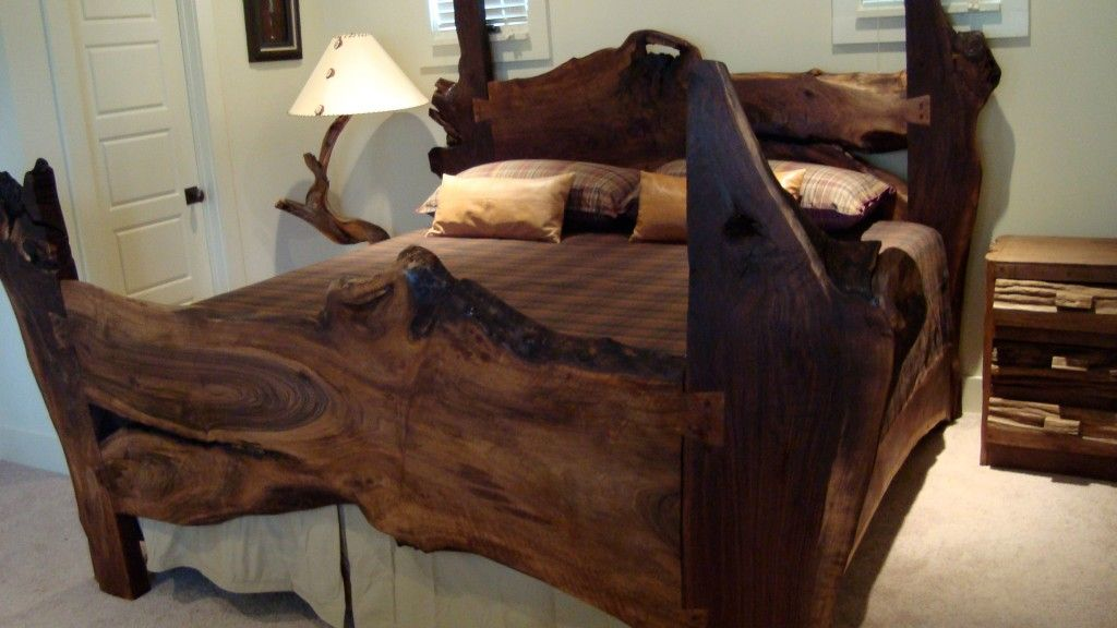 Rustic Beds Natural Wood Bed And Wood Platform Bed Wood Bed