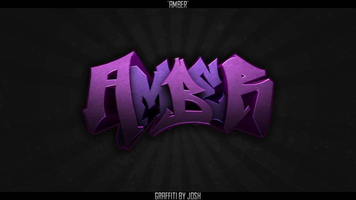 Graffitti the name amber amber graffiti by diatox on deviantart