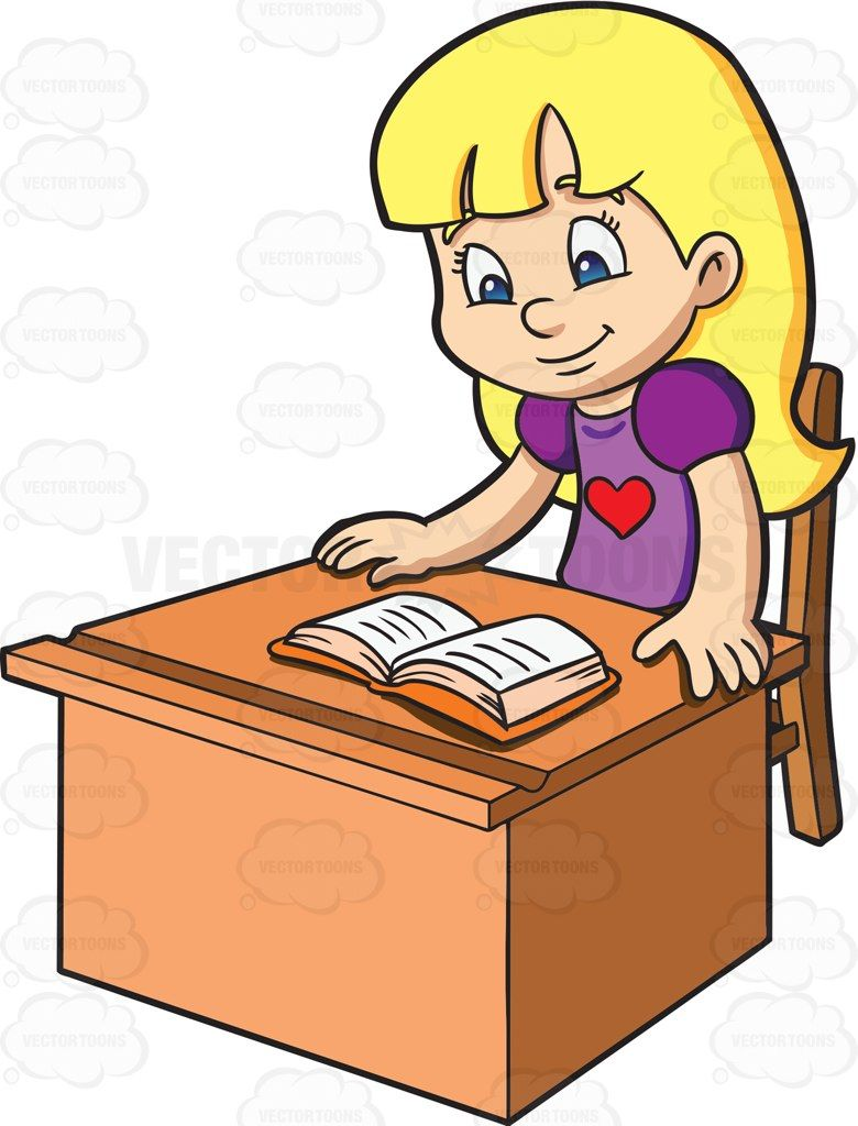 a girl happily reads a textbook clip art for transportation rh pinterest com out of office clipart fourth of july out of the office clipart
