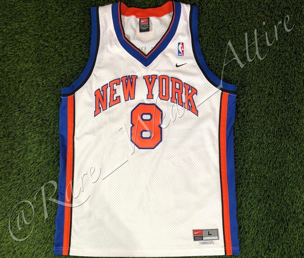 Nba Jersey New York Knicks Latrell Sprewell Nike Swimgman Sz L Vtg Porzinginis Ebay New York Knicks Nba Jersey Basketball Vests