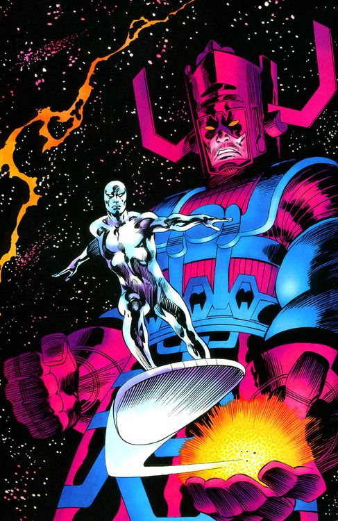 Galactus and Silver Surfer by John Buscema *