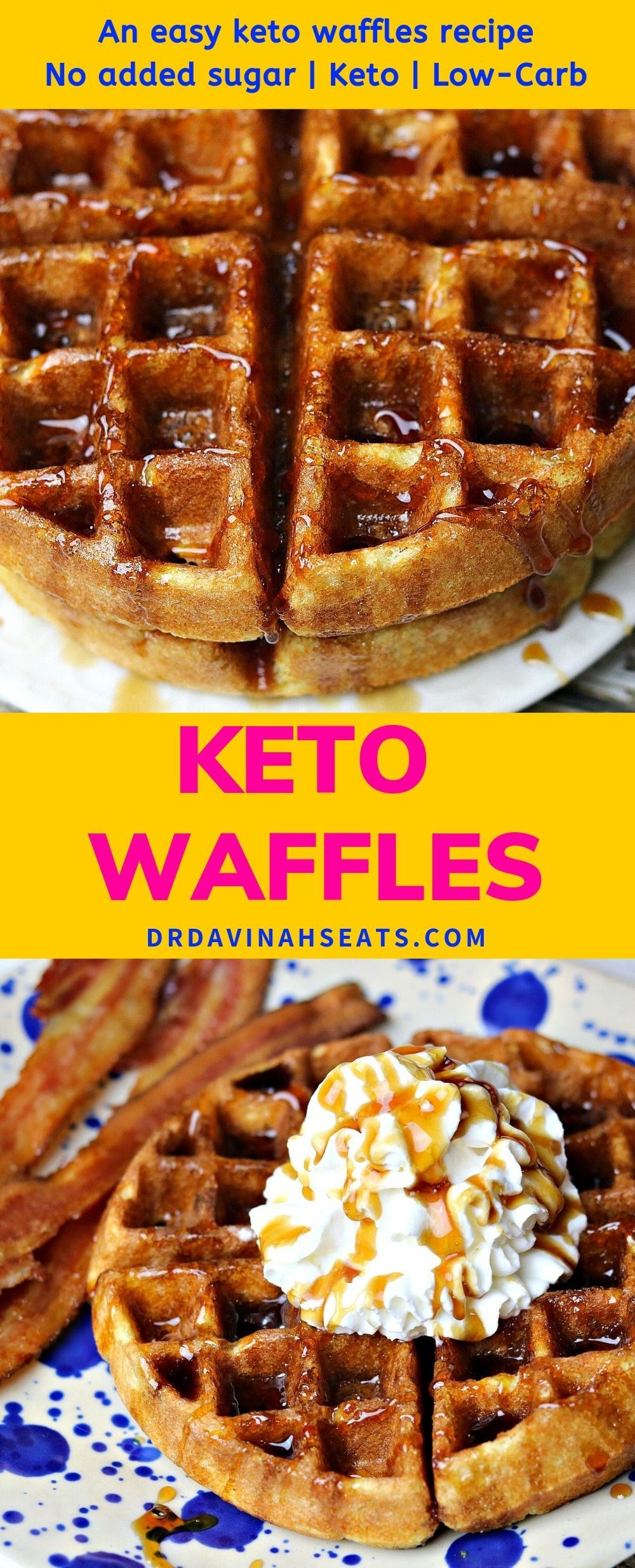 Want an easy keto waffles recipe that tastes fluffy on the inside and slightly crisp on the outside? These low carb almond flour waffles are DELICIOUS! Plus, they are prepared in less than 20 minutes. Perfect for brunch & kid-approved.