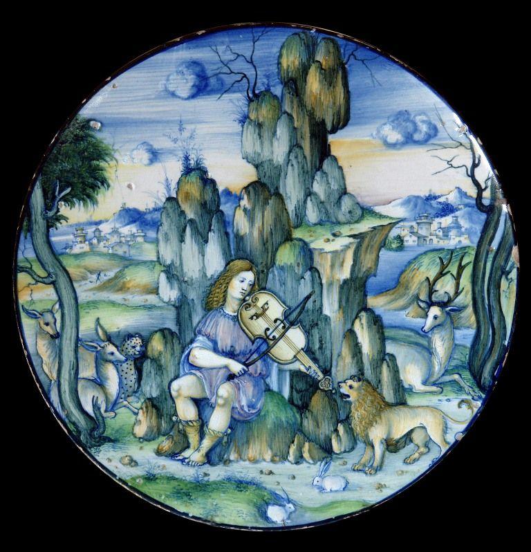 Servizio Correr, realizzato nel 1520 ca. da Nicola da Urbino, tra i capolavori della maiolica rinascimentale. nicola_da_urbino