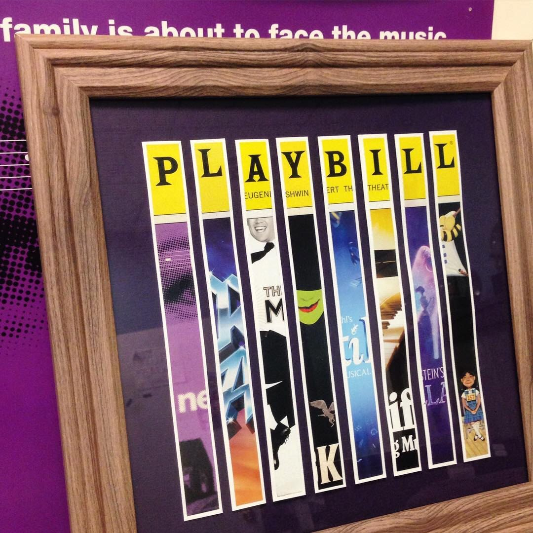 Custom Broadway Playbill Framed Art Collage - Personalize It! by ...
