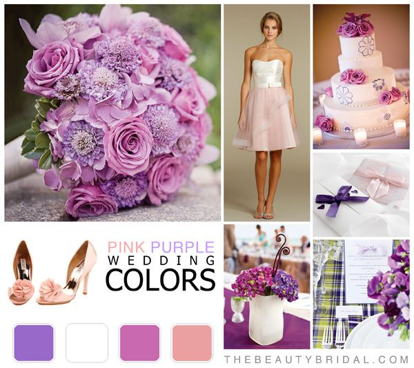 Pink Purple Wedding Color Schemes With Images Pink Wedding