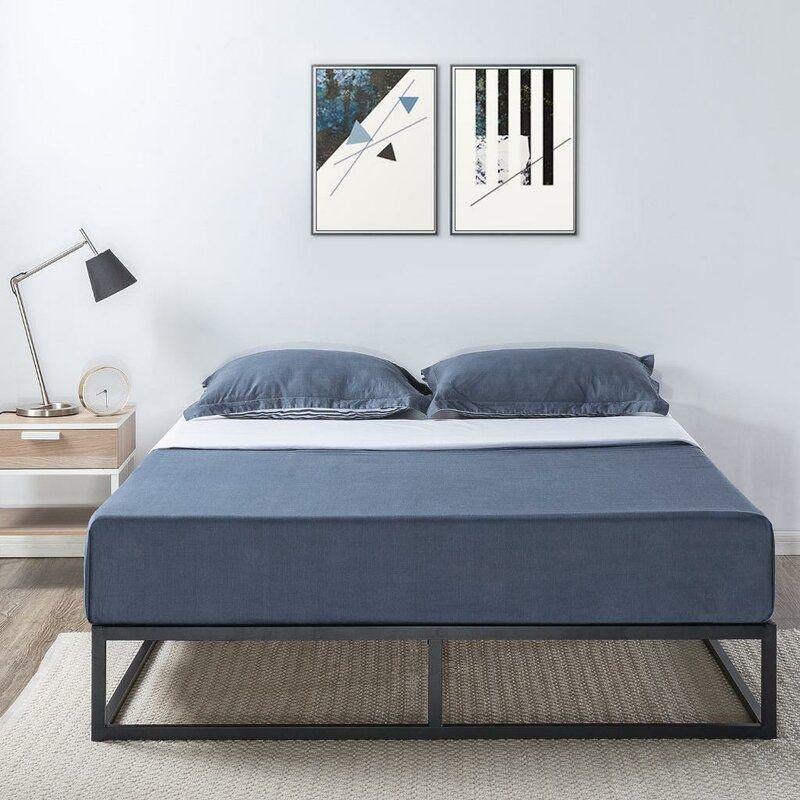 Ivy Bronx Leesa Classic Metal Bed Frame Wayfair Metal Platform Bed Bed Frame Platform Bed Frame