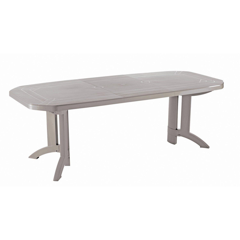 Table de jardin de repas GROSFILLEX Véga rectangulaire lin ...