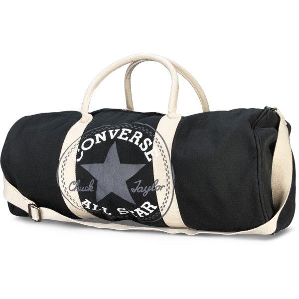 Converse Graphic Barrel Bag – black (150 MYR) ❤ liked on