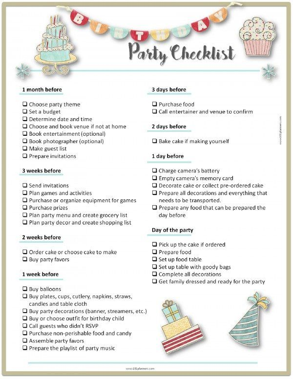 Party Planning Template  Planners    Party Planning