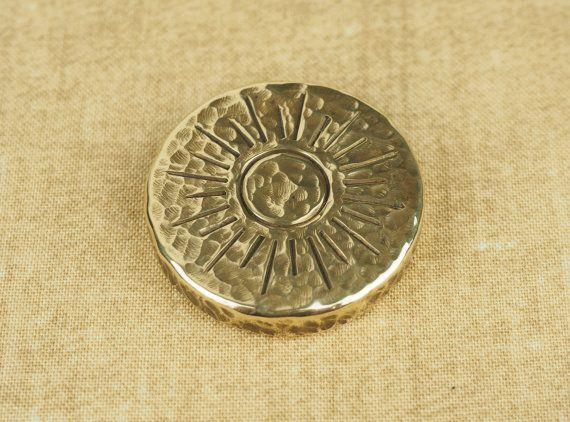Darkened Brass Coin