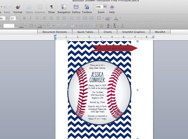 Free Printable Baseball Baby Shower Invitations Shower Ideas