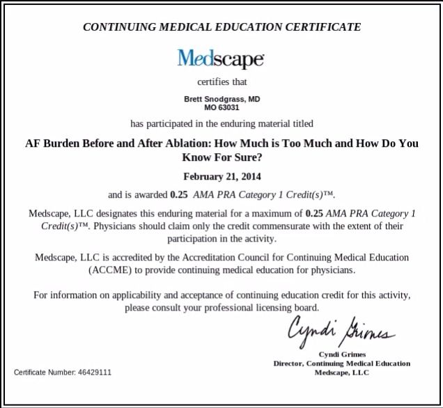 025 AMA PRA category one continuing medical education credits - medical fitness certificate