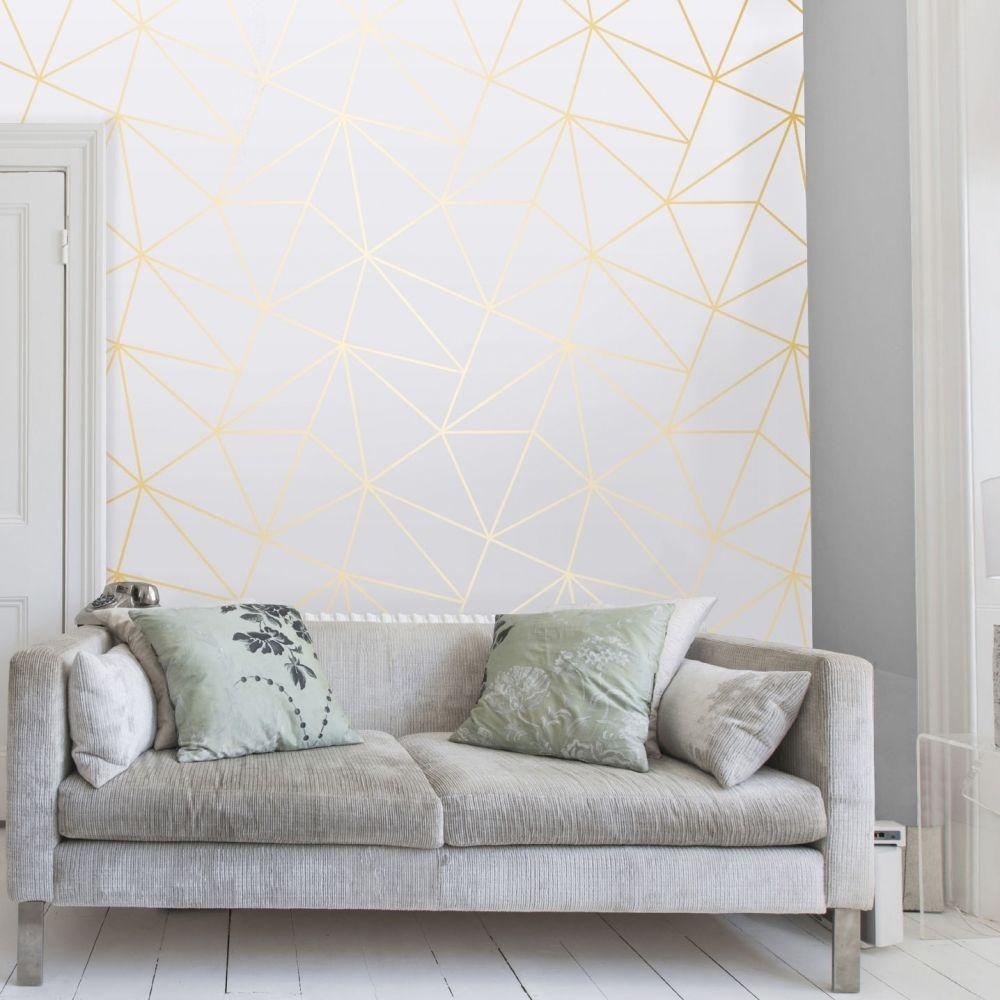 Zara Shimmer Metallic Wallpaper White Gold Wallpaper Walls Bedroom Wallpaper Living Room White Glitter Wallpaper