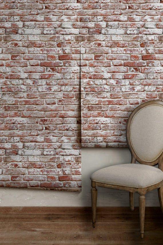 Removable Peel N Stick Wallpaper Self Adhesive Wall Etsy Peel N Stick Wallpaper Brick Pattern Wallpaper Textured Walls