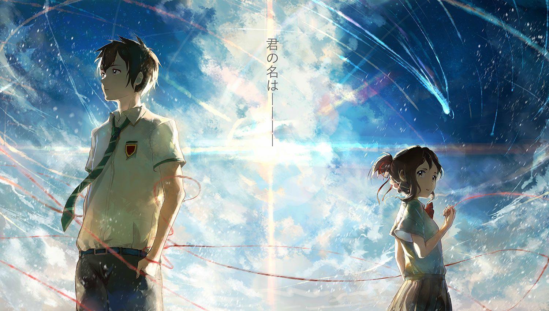 Hd wallpaper kimi no na wa - Find This Pin And More On Anime Wallpaper Anime Your Name Mitsuha Miyamizu Taki Tachibana Kimi No Na Wa