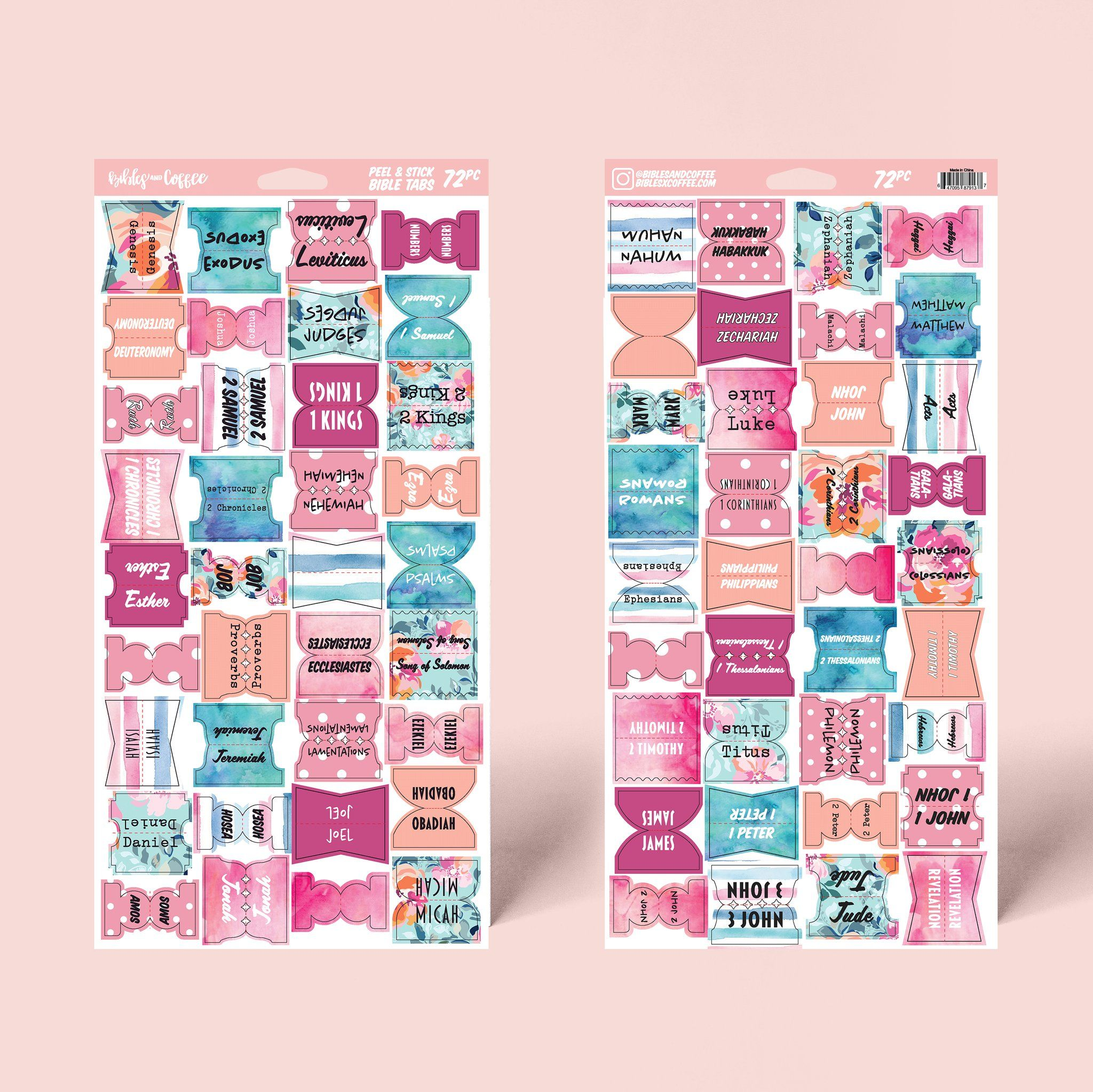 Floral bible tabs bible tabs bible study gifts bible