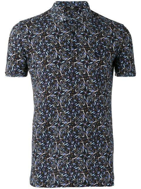 bd4eda2b #fendi #cloth #shirt Printed Polo Shirts, Paisley Print, Men