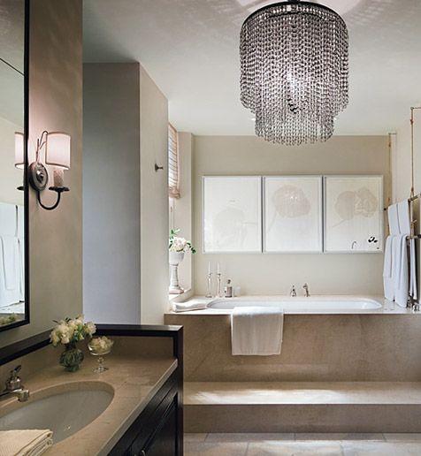 images about bathroom chandeliers de rigueur, n'estce pas,
