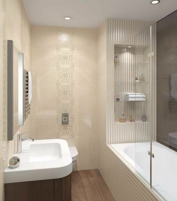 Kleines Bad Fliesen Wandfliesen Dusche Badewanne Badgestaltung | Ideen Rund  Ums Haus | Pinterest