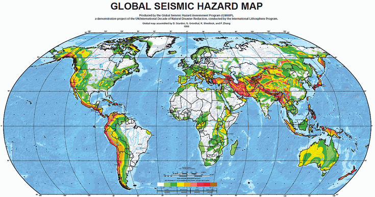 The greatest earthquake zones on earth the greatest earthquake zones on earth seismic hazard map of the world gumiabroncs Gallery