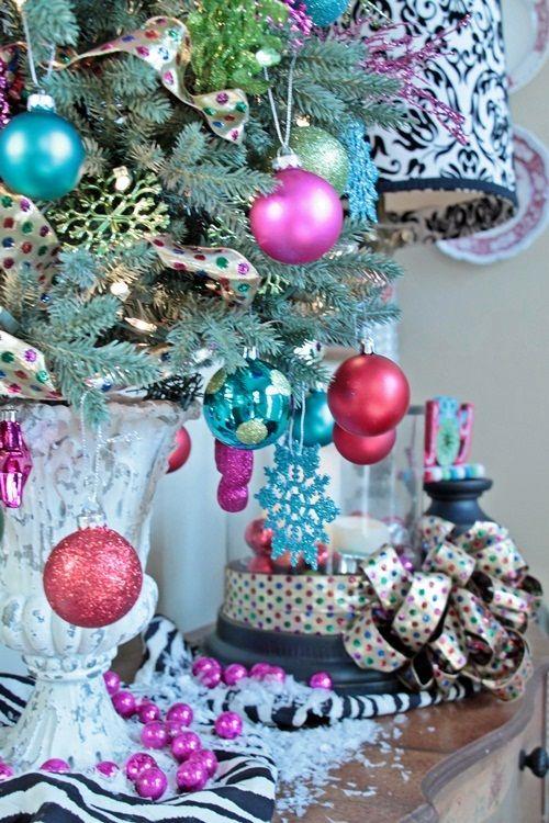 Colorful Christmas tabletop tree