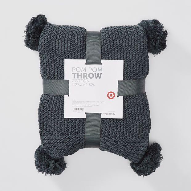 Pom Throw Rug Decor Rugs Target Grey