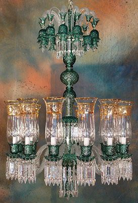 Bohemian Chandelier With Beautiful Crystal Prisms Lustres De