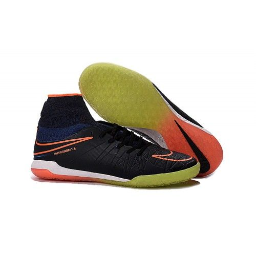 Nike HypervenomX Proximo IC high tops Soccer Cleat black yellow orange