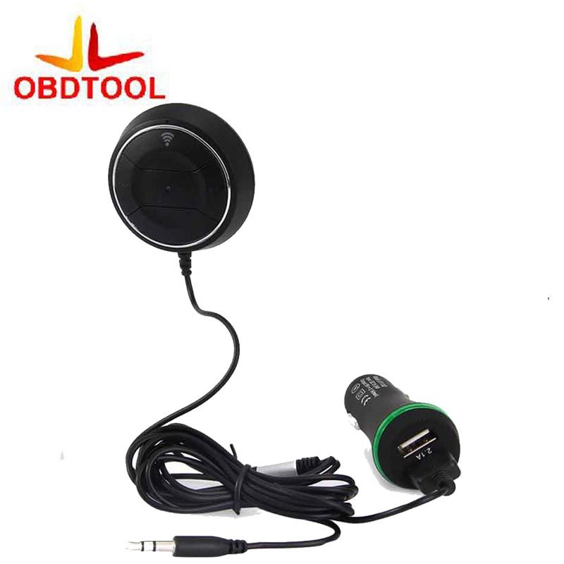 Bluetooth Hands Free Car Kit 3 5mm Aux Input Audio Receiver Wireless Bluetooth 4 0 Adapter With Mic 3 1a Dual Usb Car Charger Car Usb Dual Usb Charger Car